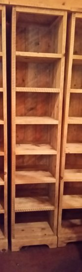 Rough Sawn Lumber Shelf