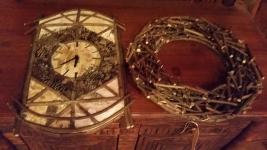Birch Twig Clock and Wreath