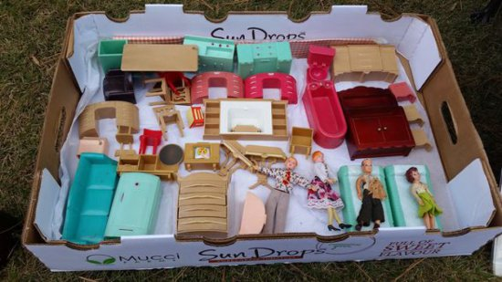 1950s Doll House Furniture Lot