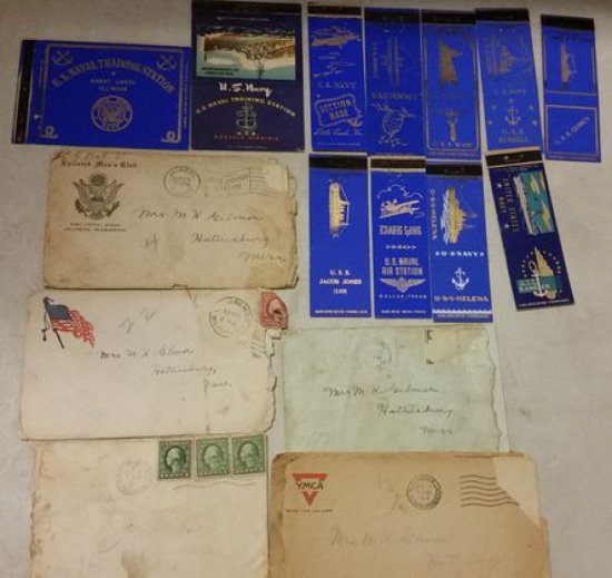 WWI Era Navy Match Book Covers
