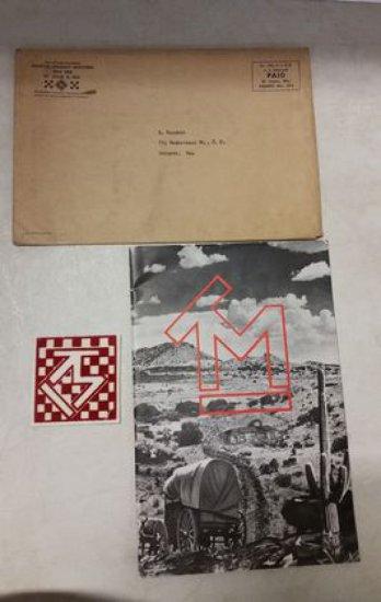 1950's Tom Mix Fan Club Book & Patch