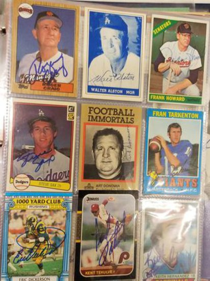 Collection of Baseball Cards & Autographs