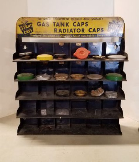 1940-50s Slant Caps Display