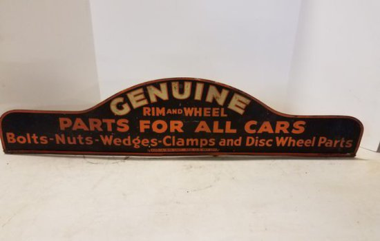 1900's Genuine Rim & Wheel Parts Display Topper Si
