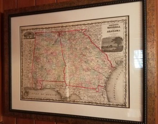 1850's Johnson Map of GA & Ala