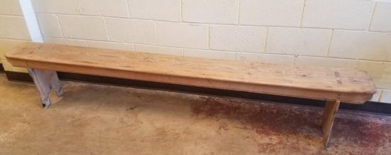 Early 1800's Primitive Church Bench