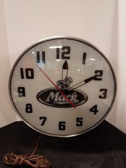 1950s Mack Trucks Advertising Clock
