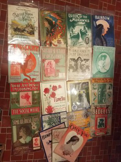 120+ Pieces of Vintage Sheet Music