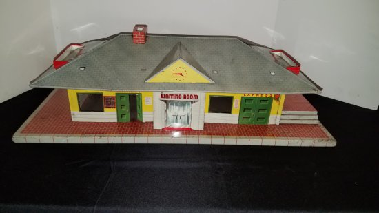1950-60s Tin Litho Train Depot