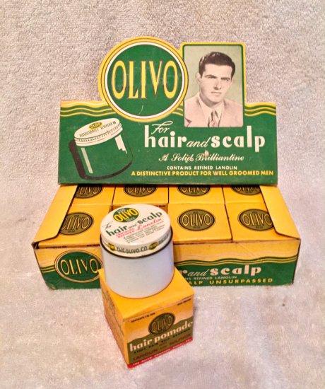 1950s Olivo Hair Pomade Display