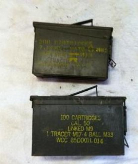 Two Military Ammo Boxes