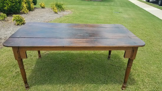 3 Board Top Farm Table
