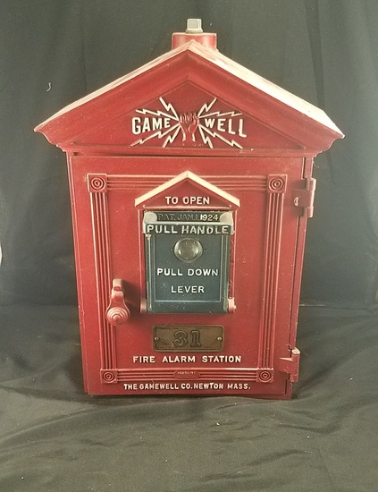 Vintage Gamewell Fire Alarm Pull Box