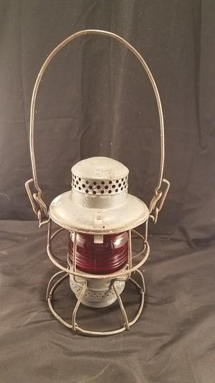 Pennsylvania Railroad lantern with Red Lens