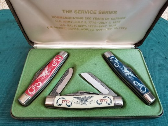 The Service Years Three Knife Set 1975