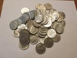 70 Kennedy Half Dollar Lot