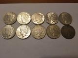 10 Peace Dollar Lot