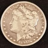1891 Carson City Morgan Dollar