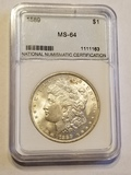 1889 Morgan Dollar MS 64