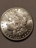 1881 S Morgan Dollar High Grade MS66++