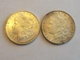 Lot of Two Morgan Dollar Lot BU