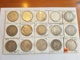 Morgan Dollar Lot of 15 Coins