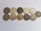 Lot of 11 Morgan Dollars