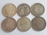 Morgan Dollar Lot of Six Coins