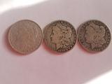 Morgan Dollar Lot of Three Coins