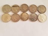 Ten Peace Dollar Lot