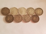 Lot of Nine Morgan Dollars