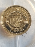 Liberia 10.00 Gold Proof Coin