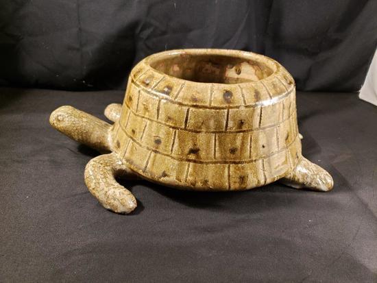 Clint Alderman Turtle dog bowl