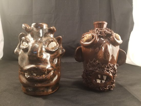Southern Face Jug Lot, SeaGrove and Marie Rogers