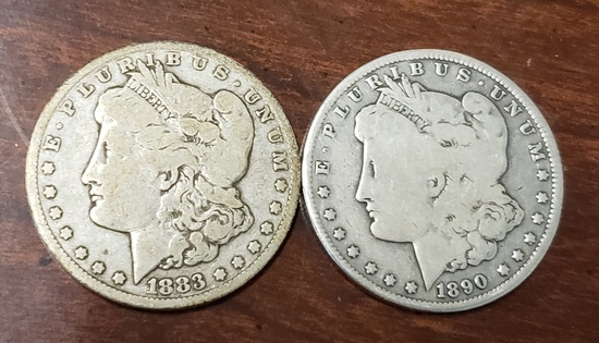 Carson City Morgan Dollar Lot of Two coin's