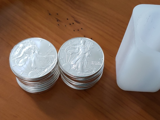 US Silver Lot of 20 Coins 1999