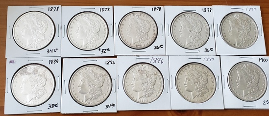 Lot of Ten Morgan Dollar Lot