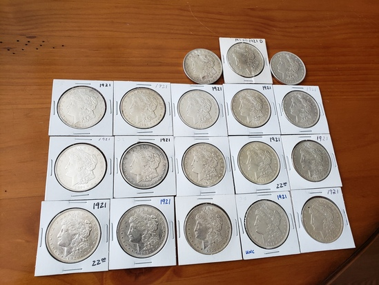 Lot of 18 Morgan Dollar Lot 1921