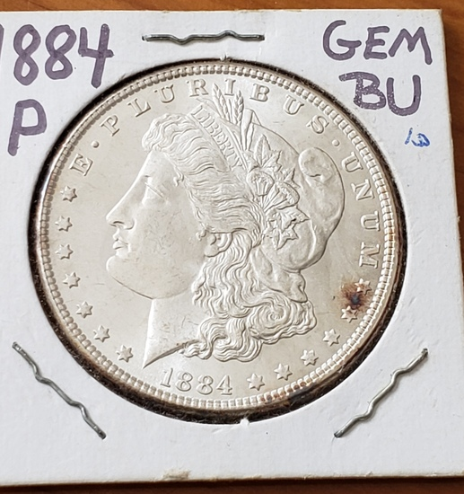 1884 Morgan Dollar Choice BU