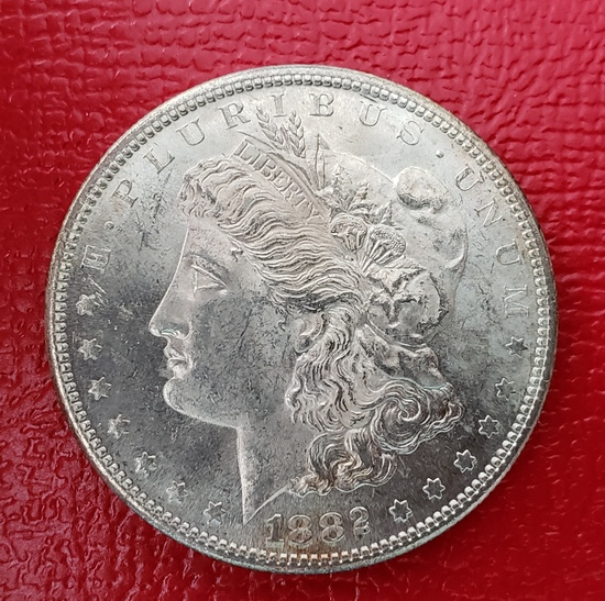 1882 S Morgan Dollar MS++