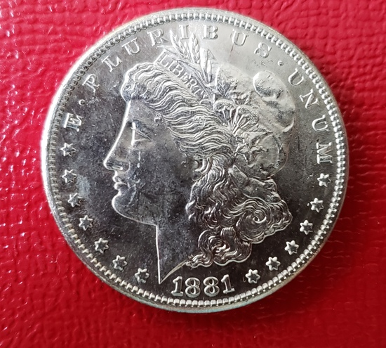 1881 S Morgan Dollar Coin