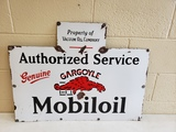 1930s Mobiloil Gargoyle Porcelain Sign