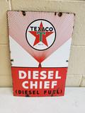 1951 Texaco Diesel Chief Pump Plate