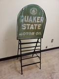 1950 Quaker State Oil Can Rack
