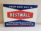 1962 Bestwall Sheetrock Sign