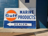 1950-60s Gulf Marine Products Sign