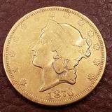 1876 Liberty Head  Carson City 20.00 Gold Coin