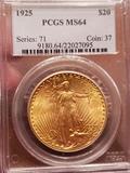 1925 Saint Gaudens MS -64 Gold Coin