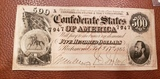Confederate 500.00 Bill