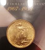 1908 20.00 Saint Gaudens Gold Coin